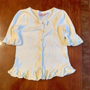 Juicy Couture Girls 12 Cotton Ruffle Sweater Top